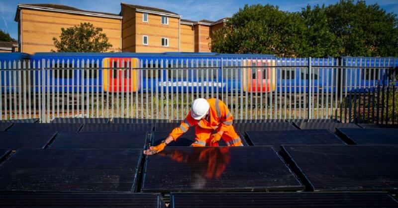 energía solar para trenes